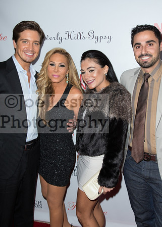 From left, Jacob Busch, Adrienne Maloof, and designer Anto Giantto (R)