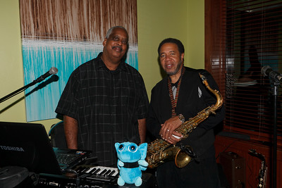 Ken Trent Al Chisolm II  Band name: The On Que Players  [Filename: redefinig refuge masquerade-15.jpg] Copyright: Michael Blitch - MichaelBlitchPhotography.com