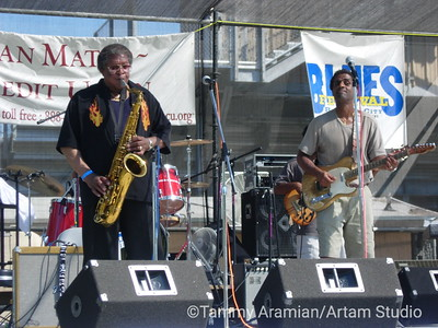 Kenny Neal Band with Bobbie Webb on saxophone