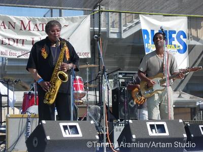 Kenny Neal Band with Bobbie Webb on saxophone
