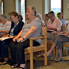 Members of the Regina High School class of 1950 attend Mass prior to the June 3 class reunion at Salem Heights, motherhouse of the Sisters of the Precious Blood. The Sisters operated the all-girls high school in Norwood, Ohio, from 1928 until it closed in 1977.