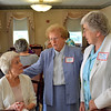 From left, Loretta Riley Luers speaks with Precious Blood Sisters Katie Lett and Mary Ellen Lampe during the reunion. Sister Mary Ellen is a 1959 graduate of Regina.