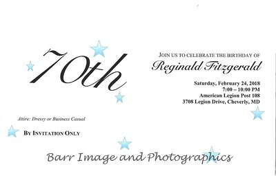 Reginald Fitzgerald 70th Birthday Celebration