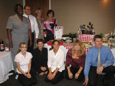 2006 Comp Team during food contest among the HR department.  Italian food was our theme and we placed 1st - August.