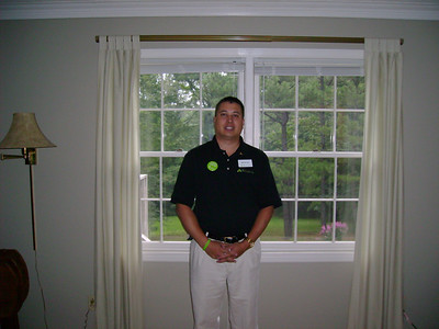 Michael ready for 1st day after branch system conversion - 2007.
