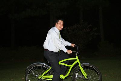 Michael on the bike - 10.01.08.