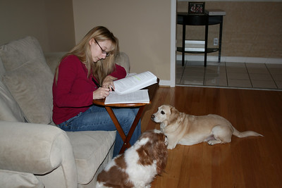Kelly studing for the PHR exam scheduled Jan 2008.