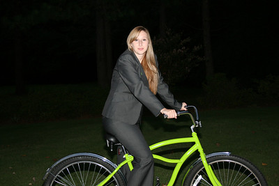 Kelly on the new bike - 10.01.08.