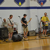 The 'Amazing Larry' band opens the big show.  We had to start the night in the HS, due to storms.