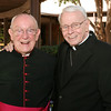 In this 2010 photo Msgr. R. Donald Kiernan, left, pastor of All Saints Church, Dunwoody, and Archbishop-emeritus John F. Donoghue pose before a parish tribute for the retired archbishop, who was preparing to move to St. George Village, Roswell, after living and serving at All Saints Church for five years. Photo By Michael Alexander