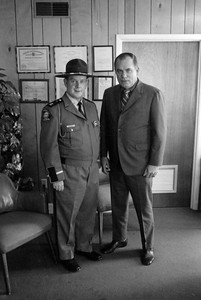 Msgr. Kiernan with Col. Ray Pope, former director of the Georgia State Patrol;