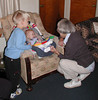 Visiting Grandma with Mom, Faye, Connor, and Logan, 10/23