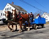 Lindsay Peterson & Emily Majors, of The Remick Farm, took guests on wagon rides, during the annual maple sugaring event, which was held at The Remick Country Doctor Museum and Farm, in Tamworth, NH, on March 27th, 2010.