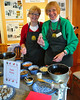 Clare Canfield and Ann Albrecht, of The Remick Country Doctor Museum & Farm, take a moment to pose for a photo, while demonstrating the making of Sugar Plums, at a Victorian Christmas event held at the Farm in Tamworth,  on Saturday, Dec. 12th, 2009.