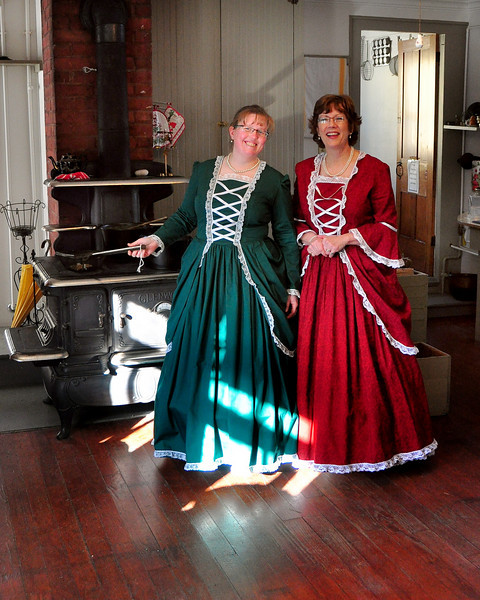 It was a Victorian Christmas at The Remick Country Doctor Museum & Farm in Tamworth, on Saturday, December 12th. <br /> Susan Junkins and Jane Fryburg, educators at the museum, are shown in the kitchen of The Captain Enoch Remick House, where they treated visitors to a variety of demonstrations.
