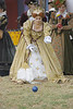 Queen Elizabeth Gloriana plays Bocci Ball.
