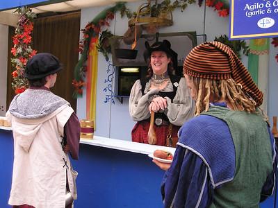 Renaissance Pleasure Faire, Hollister 2006: Serving up food in the food court.