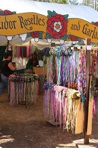 Vendors, vendors, everywhere, and I took almost no photos of them. Liked the ribbons and flowers here.