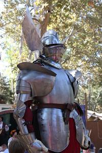 Knight in fancy armor.