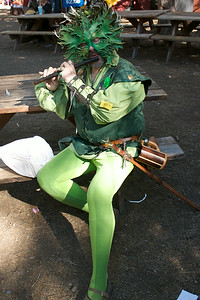 Forest sprite with flute