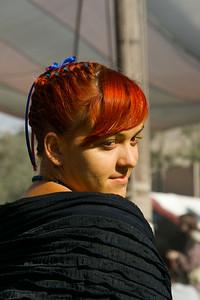 A redhead in a Renaissance Faire