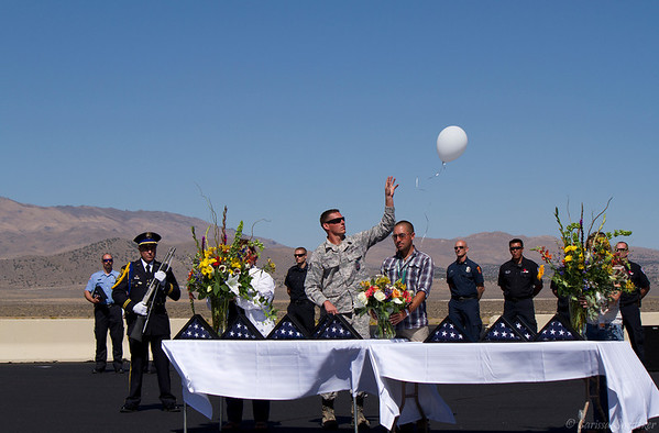 This is the ninth of eleven balloons that were released in honor of each of the victims. Regina Bynum, John Craik, Cheryl Elvin, George Hewitt, Wendy Hewitt, James McMichael, Greg Morcom, Craig Salerno, Sharon Stewart, Michael Wogan and pilot Jimmy Leeward. Tribute to the crash victims. September 16, 2012.