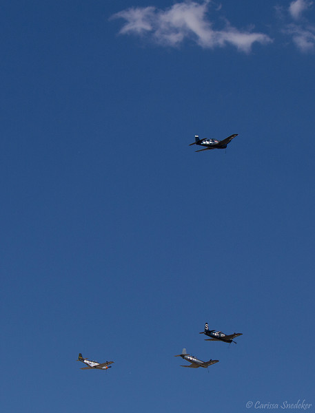 Missing man formation. Tribute to the crash victims.  September 16, 2012.