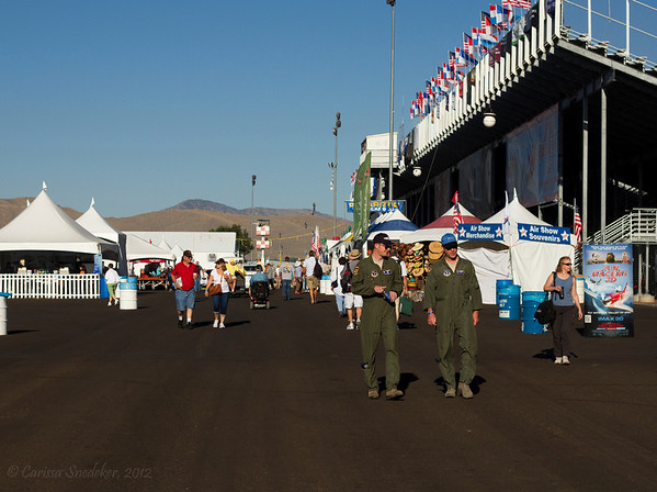The view outside the stands. Vendor and food area.