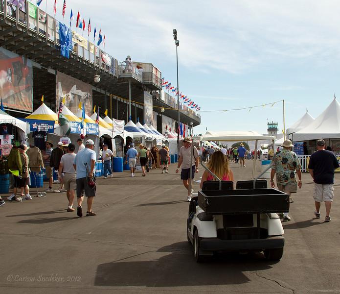 Vendor area outside the grandstands.