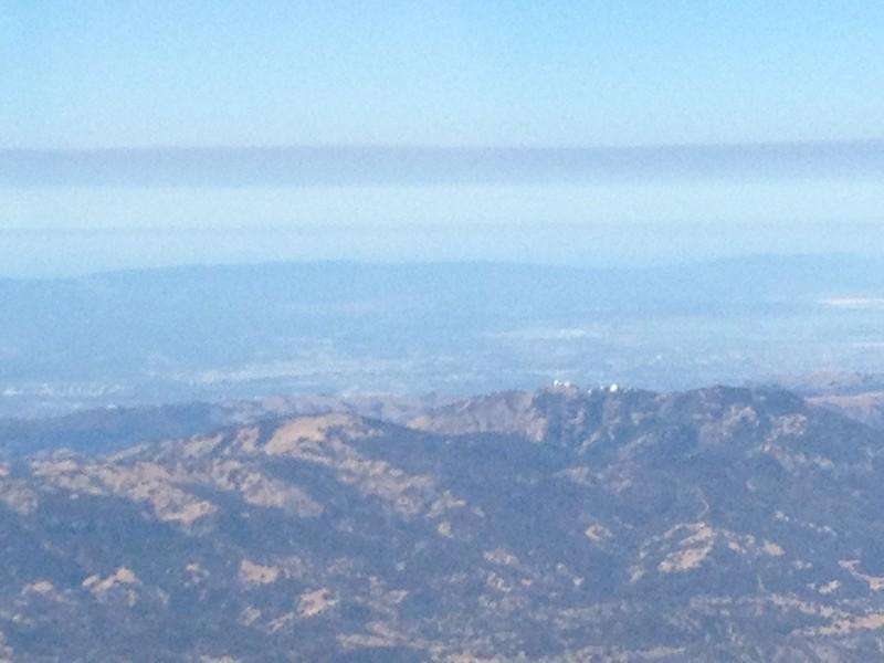 Mt. Hamilton near San Jose. Silicon Valley in the far distance.