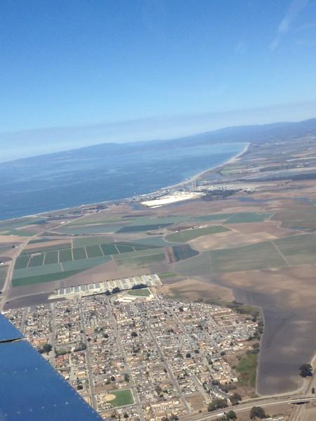 Looking back north towards Santa Cruz.