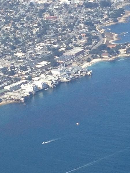 Monterey Bay Aquarium and the wharf.