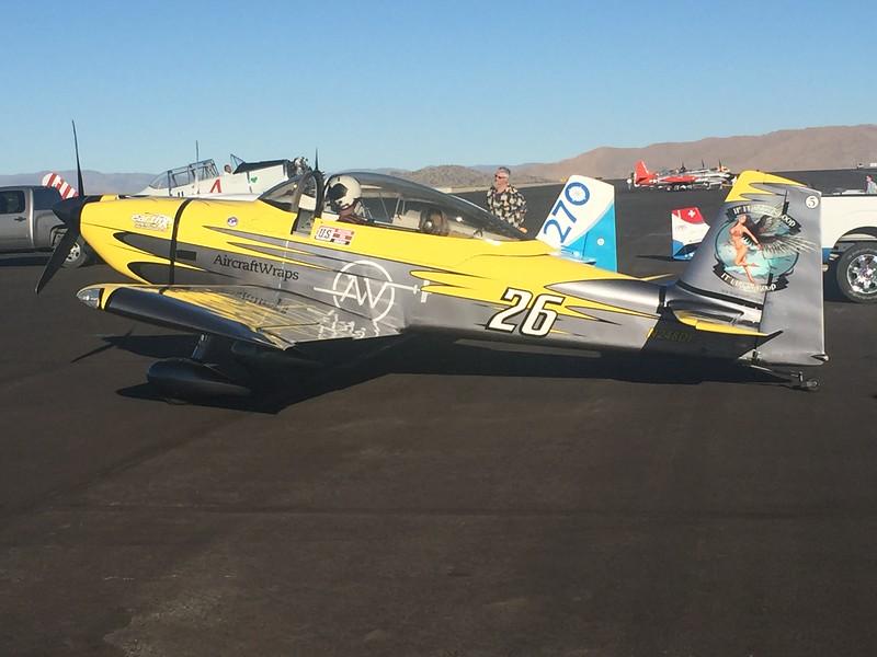 RV-8 race plane. The paint scheme is actually a vinyl wrap job.