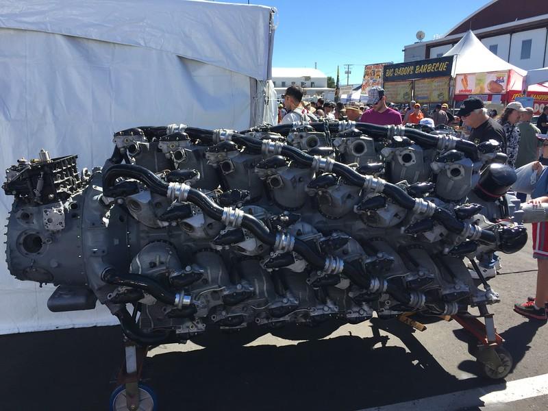 Crazy huge radial engine.