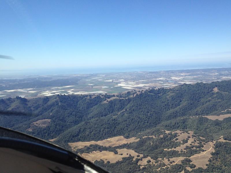 Approaching Monterey Bay.