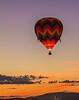 Lone Balloon at Sunrise