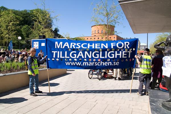 Reportage <br>Marschen för Tillgänglighet <br> Stockholm 2007