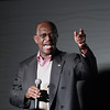 Record-Eagle/Keith King<br /> Republican presidential candidate Herman Cain addresses attendees Thursday, November 10, 2011 at Streeters in Traverse City.