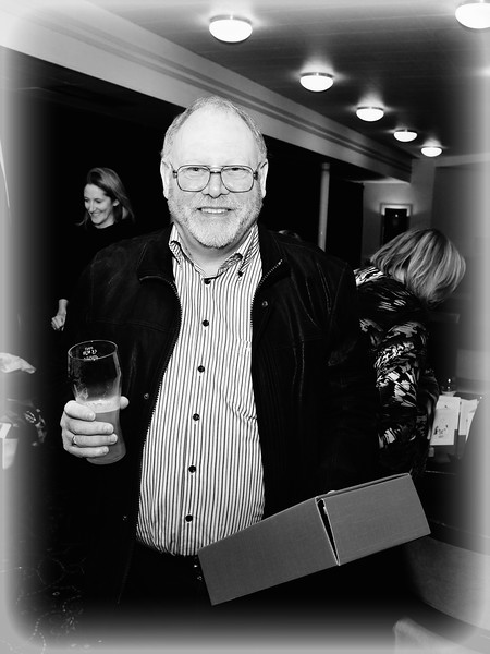 Bill Bailey wins a raffle prize.<br /> Photograph: Margaret Brown<br /> <br /> All ex Aer Lingus Res staff were invited to a fundraiser for Haiti held in ALSAA Function Room on Friday 20 November 2015 at 8pm.  €10 p/p included raffle ticket, and all proceeds went to Haiti. Even if you only visited Res, you were welcome to come along and meet old friends. For further information contact Noeline Quirke.