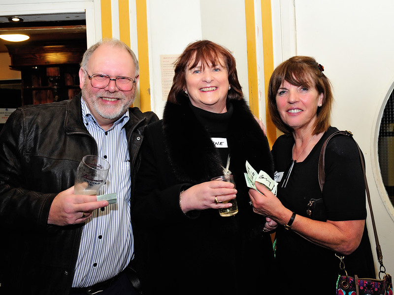 Bill & Anne Bailey with Pam Fogarty.<br /> Photograph: Margaret Brown<br /> <br /> All ex Aer Lingus Res staff were invited to a fundraiser for Haiti held in ALSAA Function Room on Friday 20 November 2015 at 8pm.  €10 p/p included raffle ticket, and all proceeds went to Haiti. Even if you only visited Res, you were welcome to come along and meet old friends. For further information contact Noeline Quirke.