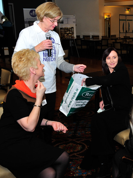 Corina Roche pulls out a raffle ticket.<br /> Photograph: Margaret Brown<br /> <br /> All ex Aer Lingus Res staff were invited to a fundraiser for Haiti held in ALSAA Function Room on Friday 20 November 2015 at 8pm.  €10 p/p included raffle ticket, and all proceeds went to Haiti. Even if you only visited Res, you were welcome to come along and meet old friends. For further information contact Noeline Quirke.