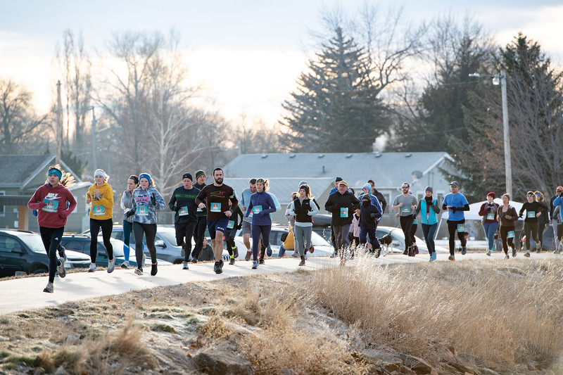 Matthew Gaston | The Sheridan Press<br>45 Sheridanites came out on a beautiful January morning for the Resolution Run 5K hosted by the Sheridan Rec. Distric Saturday, Jan. 4, 2020.