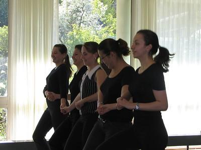 Bulgarian students dance for Sandy.(photo by Julie Habjan Boisselle)
