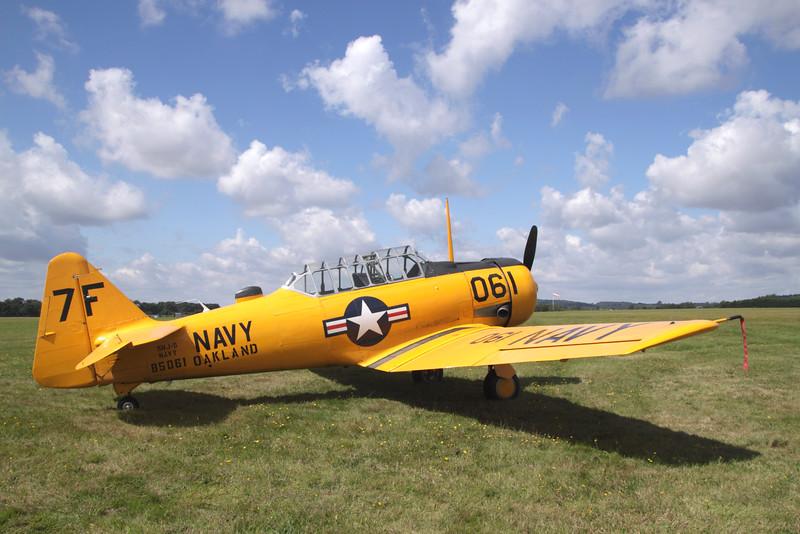 Harvard classic aircraft at White Waltham Retro festival 2014