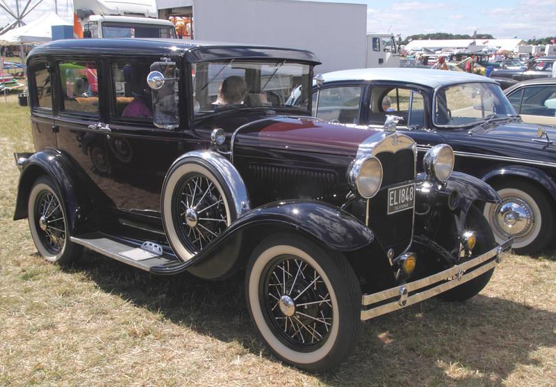 Vintage 1930s Ford 165 at White Waltham Retro Festival 2013