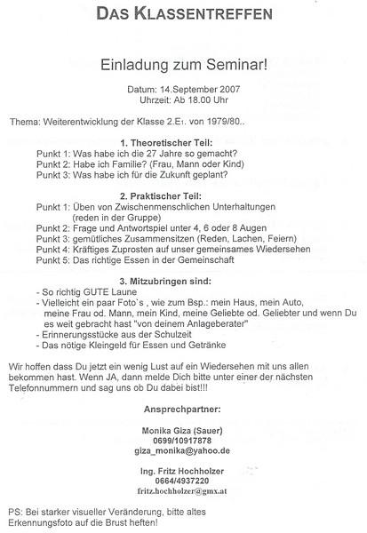 Einladung 2007, Seite 1