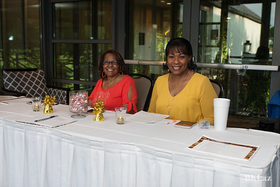 Classmates gahter and socialize at the Class of 73 45th reunion meet and greet. Aug 10th, 2018