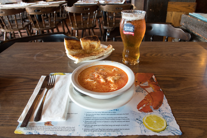 Thursday 18-Aug-2016<br /> 5:50pm<br /> Starting off at the No Name  for fish chowder and a beer
