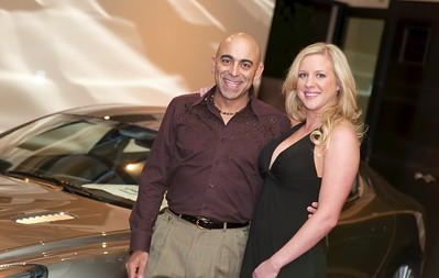 Reza Karamooz  Lucky Jets Chief Executive Officer  Phone (480) 205-5805 holds Lindsy in front og Gaudin Jaguar in this picture.