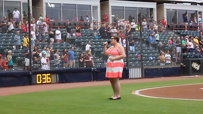 VIDEO: Rhiannon singing Star Spangled Banner at Richmond Flying Squirrels Baseball Game Against Erie Seawolves
